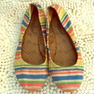 Lucky Brand Shoes - Lucky Brand EMMIE Ballet Flats Multi-Color Canvas
